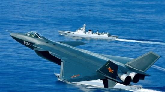 Un avión de combate chino