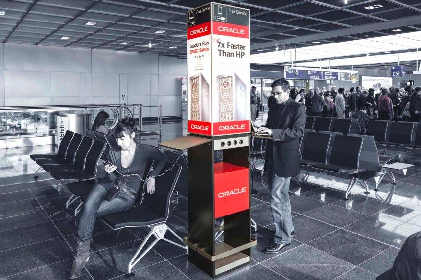 ORACLE Terminal 1 A-Plus Frankfurt Media, Flughafen Frankfurt
