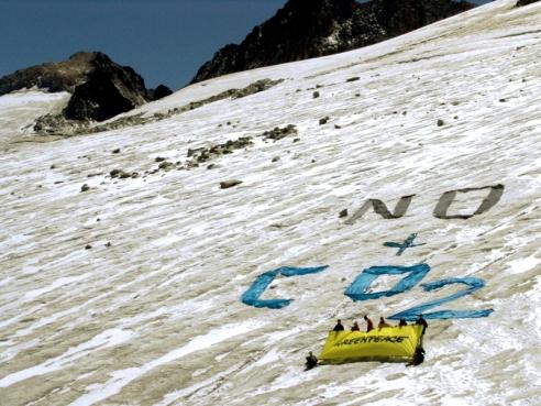 greenpeace, glaciar de Aneto, cambio climático