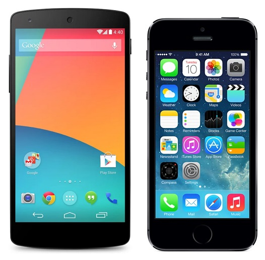 Nexus 5 vs iPhone5s