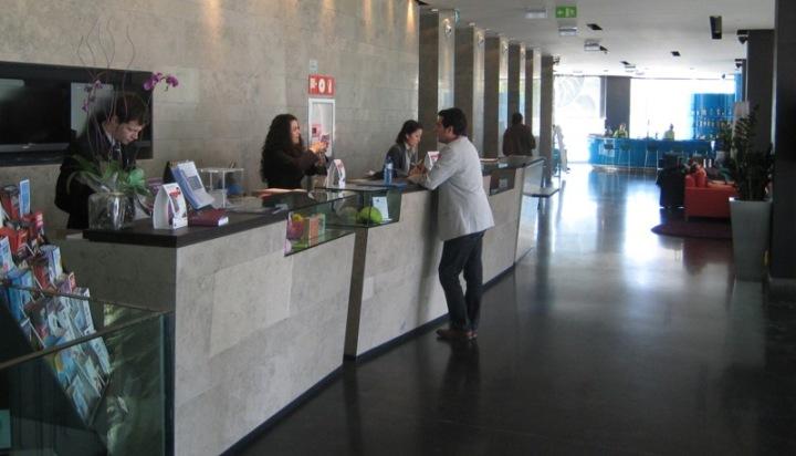 recepción hotel en Barcelona