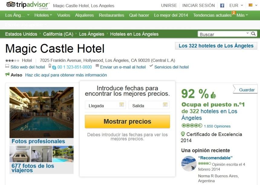 Magic Castle Hotel, Los Angeles