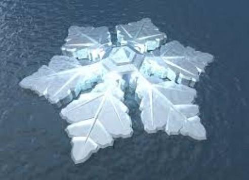 El hotel flotante en la costa de Tromso tendrá forma de copo de nieve.