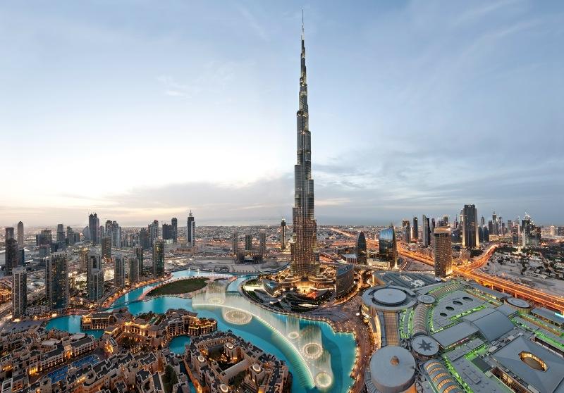 La torre de Burj Khalifa, el edificio más alto del mundo, en Dubái (Emiratos Árabes)
