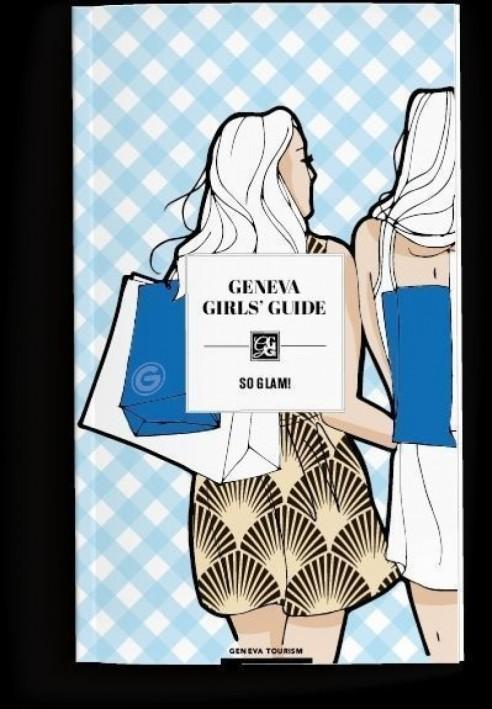 Portada de la guía turística para mujeres editada por la oficina de turismo de Ginebra, Suiza.