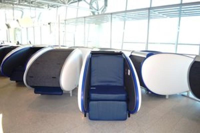asiento cápsula aeropuerto
