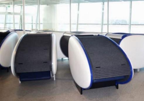asientos cápsulas aeropuertos