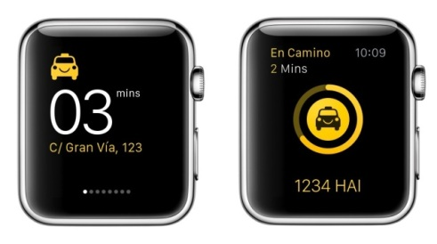 La aplicación Hailo para solicitar taxis a través de Apple Watch