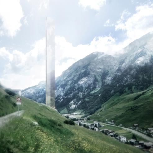 hotel más alto del mundo en suiza, ilustración