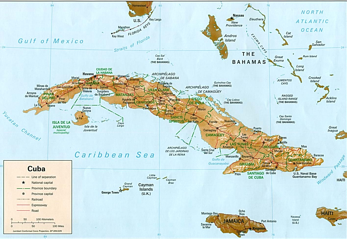 Cuba y estados unidos una nueva era llega al turismo tendencias mapa de cuba gumiabroncs Image collections