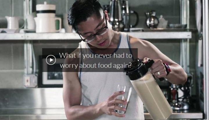 Una imagen promocional de la marca de batidos Soylent.