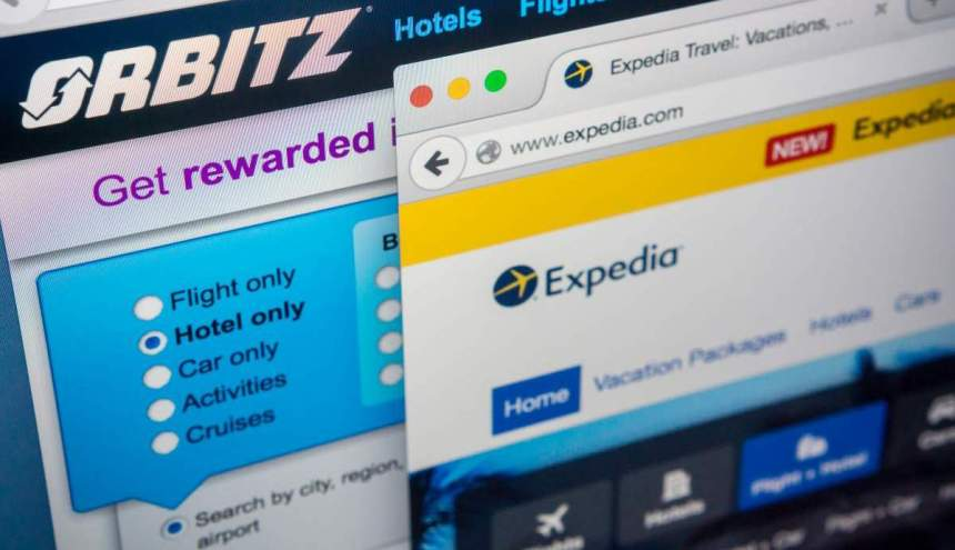 The Expedia and Orbitz websites are seen on a computer screen on Thursday February 12, 2015.  Expedia has agreed to purchase, Orbitz for $1.34 billion in a consolidation against competitor Priceline.