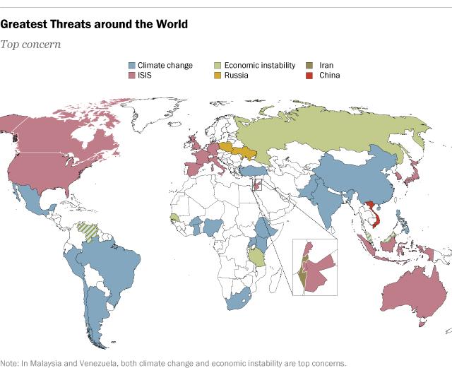 amenazas mundiales