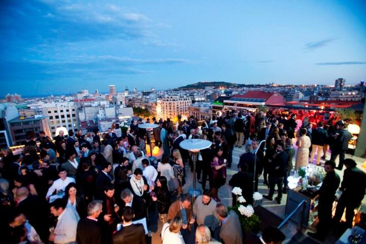 La terraza del Hotel Majestic, en Barcelona.